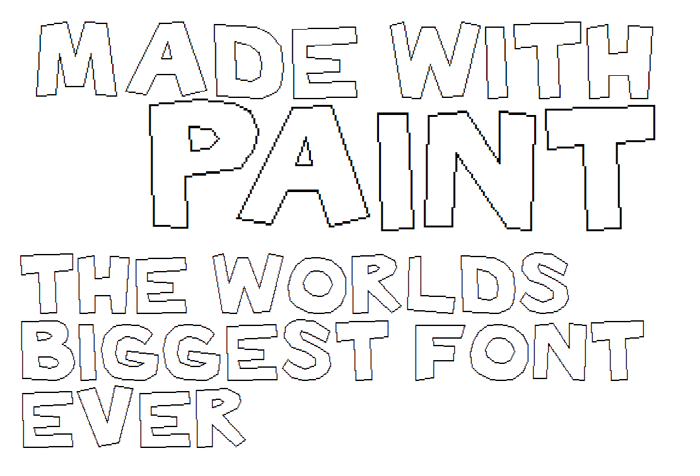 Made with Paint Font poster