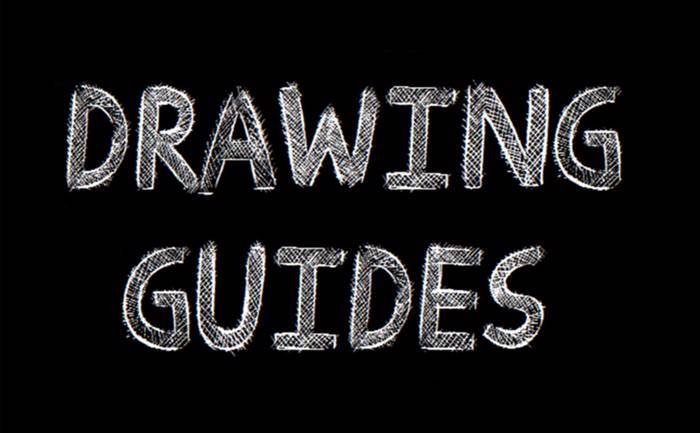 Drawing Guides Font poster