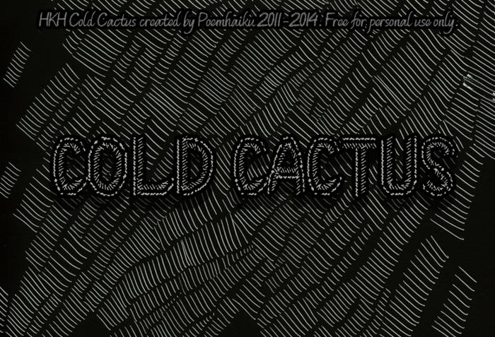 HKH Cold Cactus Font poster