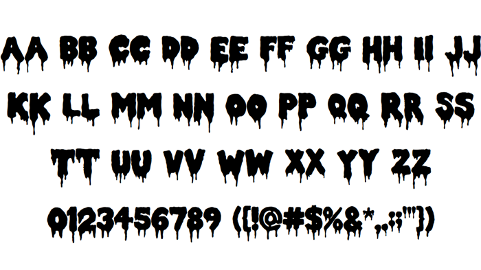 Double Feature Font poster