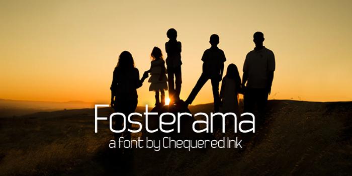 Fosterama Font poster