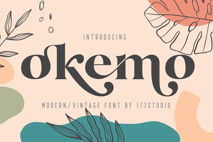 okemo Font poster