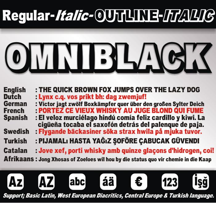 OMNIBLACK Font poster