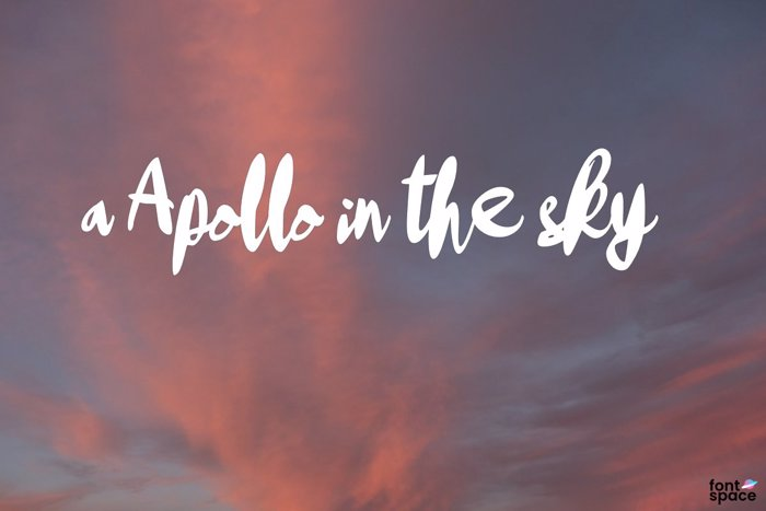 a Apollo in the sky Font poster