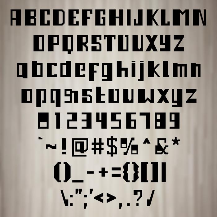 Ampleser Font poster