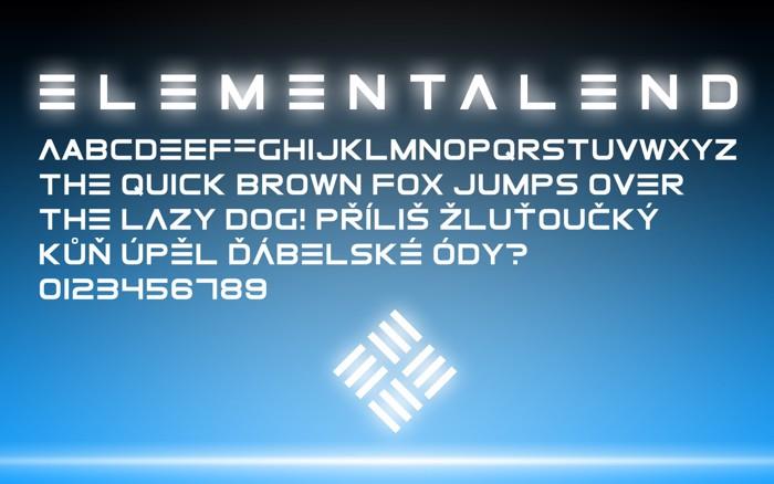 ElementalEnd Font poster