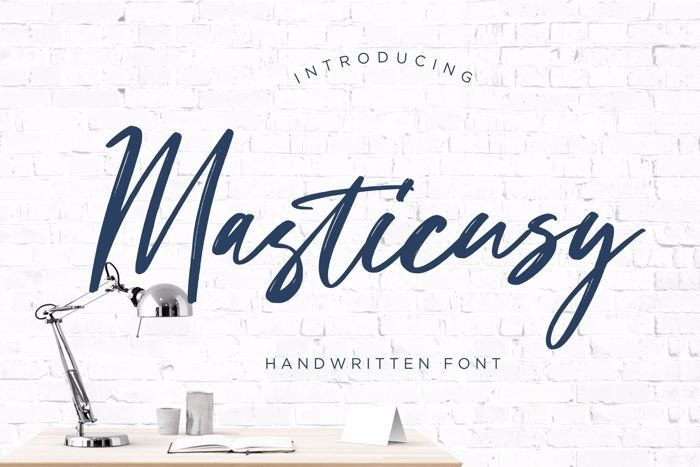 Masticusy Font poster