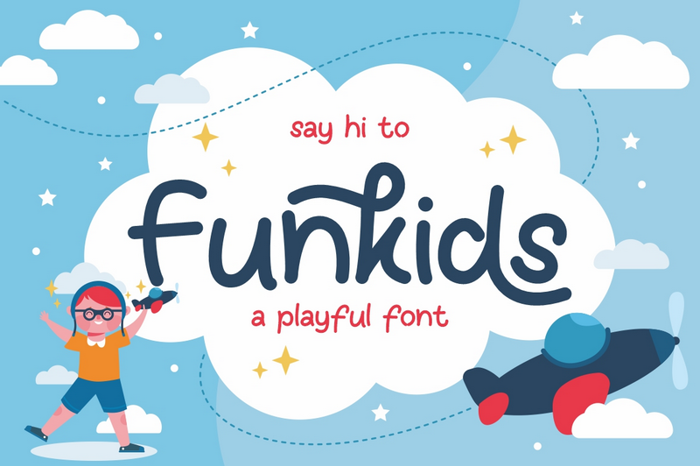 Funkids Font poster