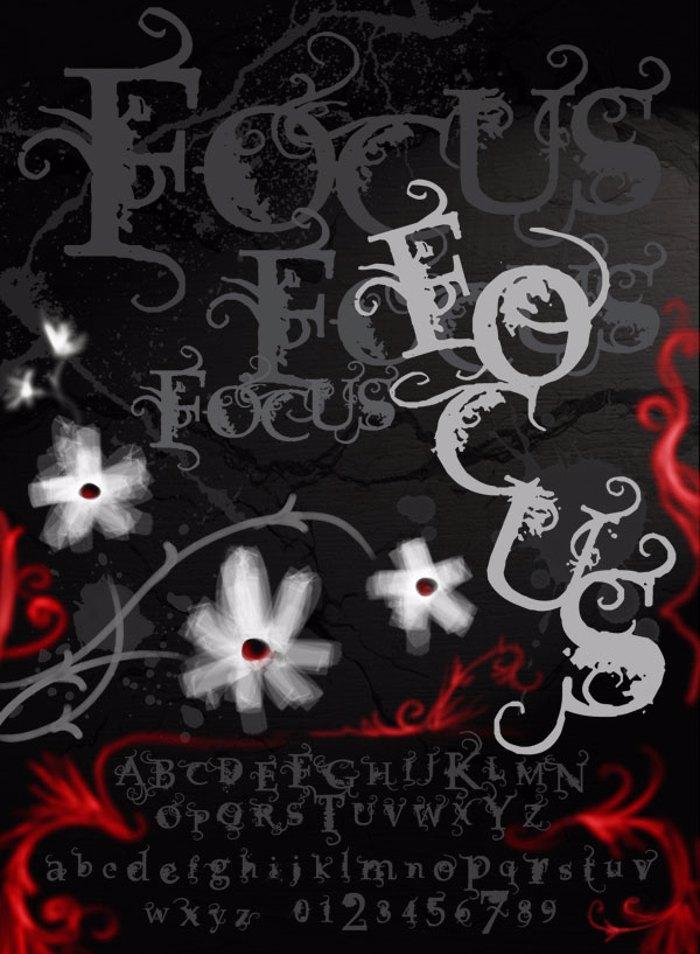 Vtks Focus Font poster