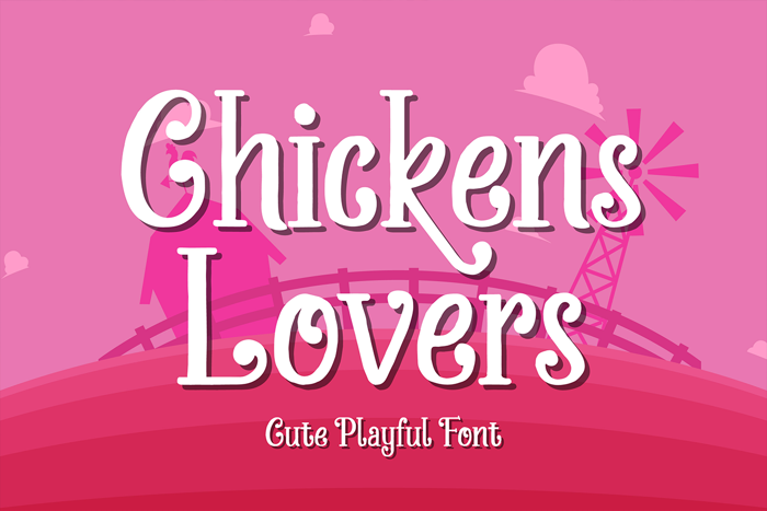 Chickens Lovers Font poster