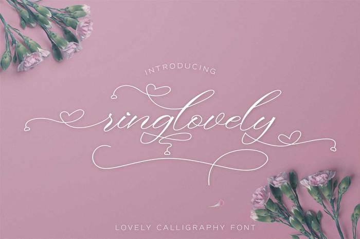 Ringlovely Font poster