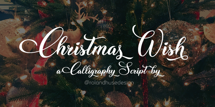 Christmas Wish Calligraphy Font poster