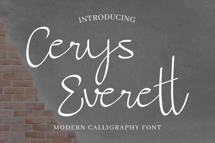 Cerys Everett Font poster