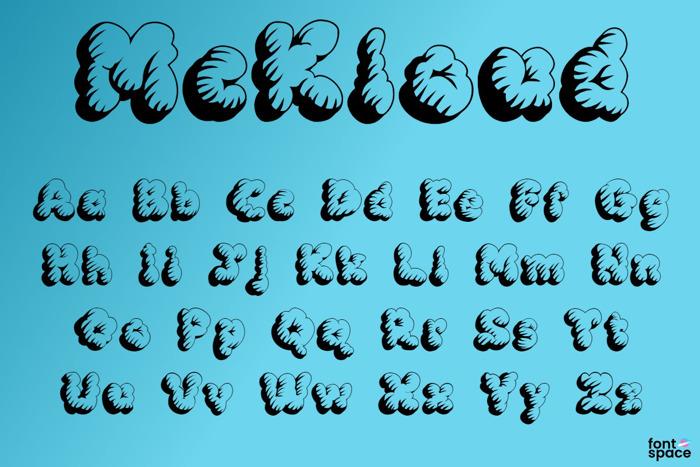 McKloud Font poster