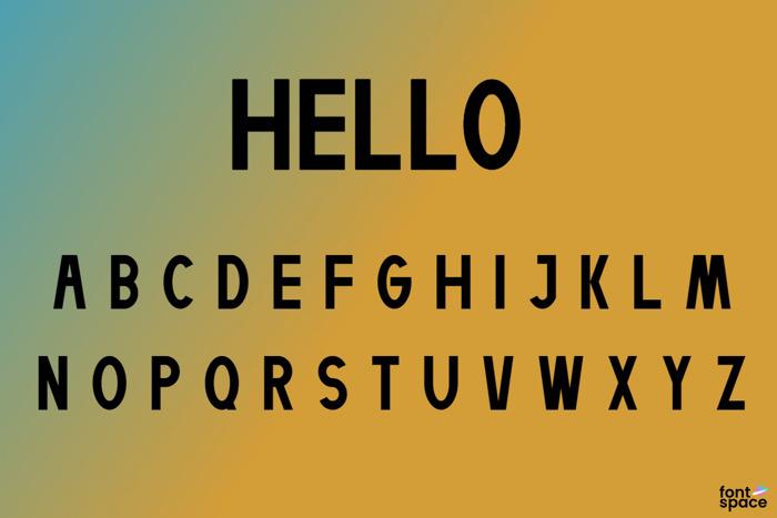 Helllo Font poster