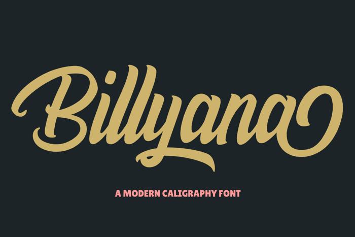 Billyana Font poster