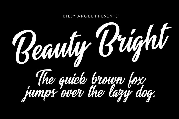 Beauty Bright Font poster