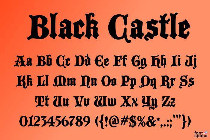 Black Castle MF Font poster