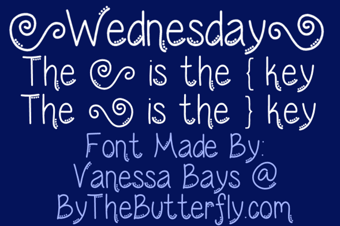 Wednesday Font poster
