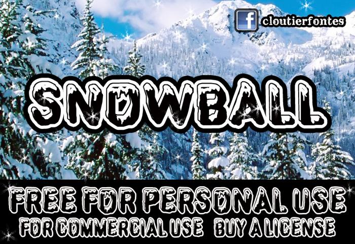 CF SnowBall Font poster