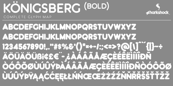 Königsberg Font poster