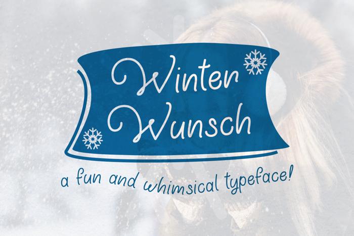 Winter Wunsch Font poster