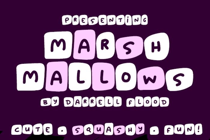 Marshmallows Font poster