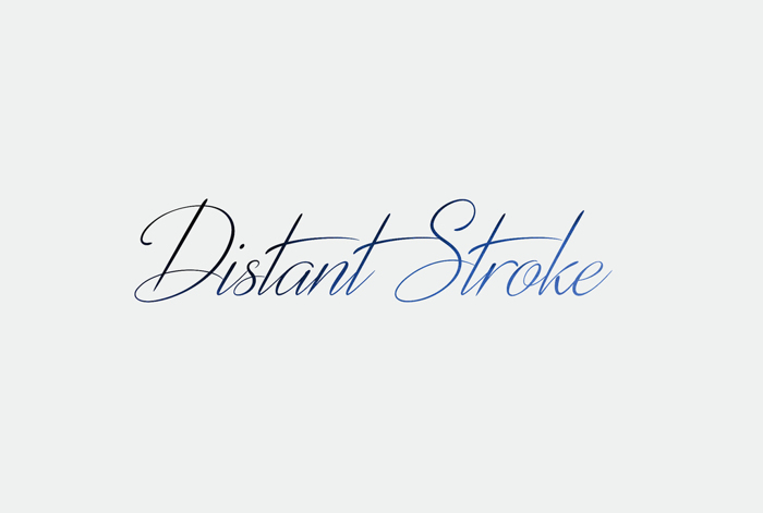 Distant Stroke Font poster