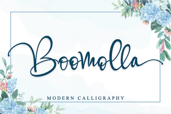 Boomolla Font poster