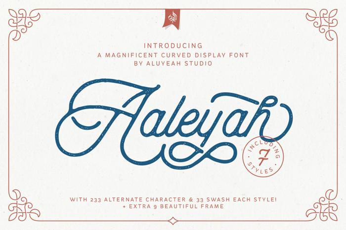 Aaleyah Font poster