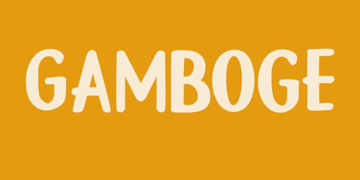 DK Gamboge Font poster