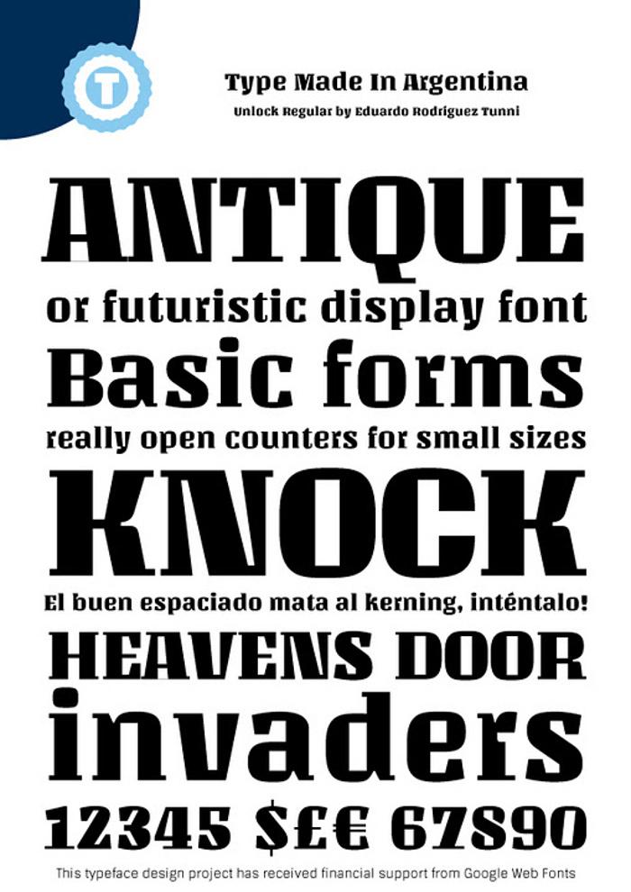 Unlock Font