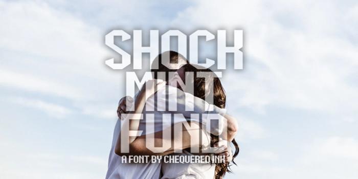 Shock Mint Fund Font poster