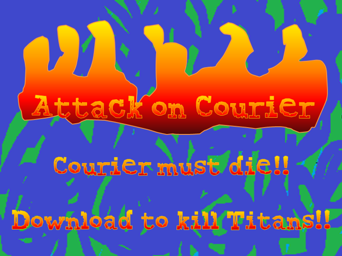 Attack on Courier Font poster