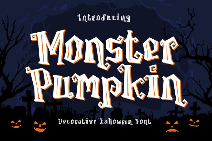 Monster Pumpkin Font poster