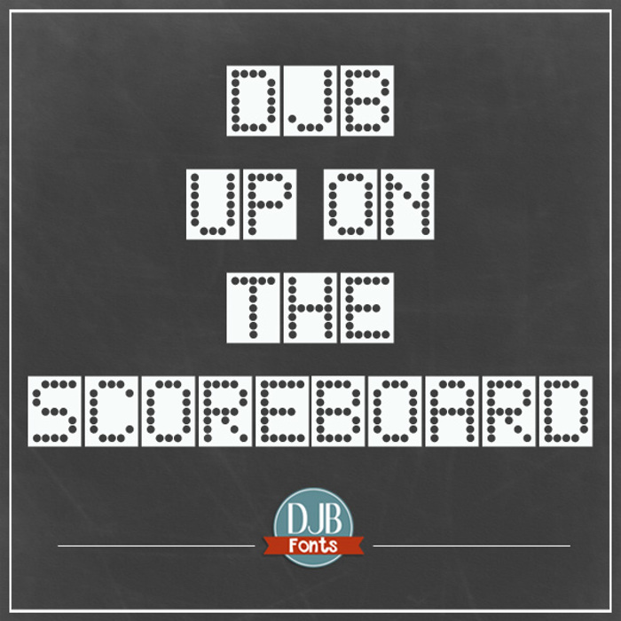 DJB Up on the Scoreboard Font poster