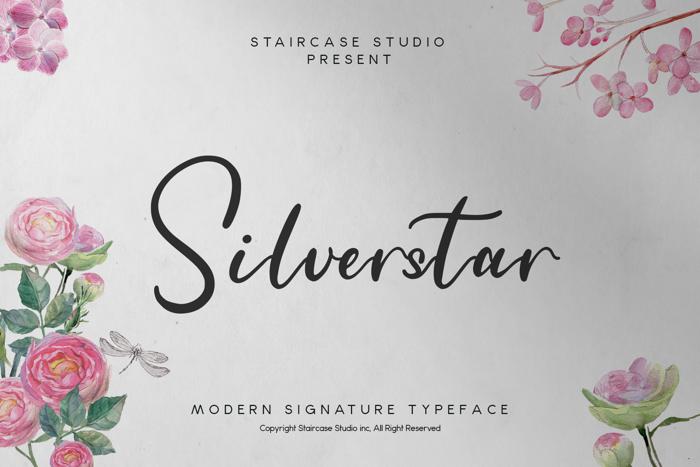 Silverstar Font poster