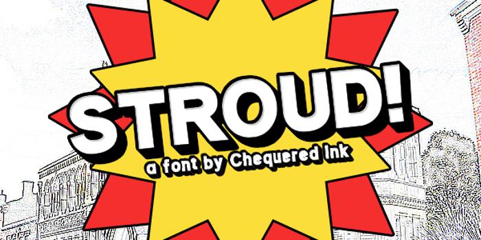 Stroud Font poster