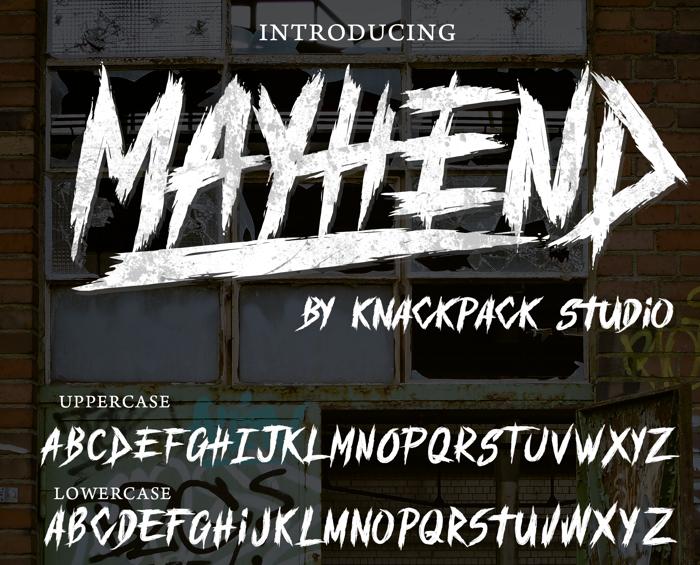 MAYHEND  demo Font poster