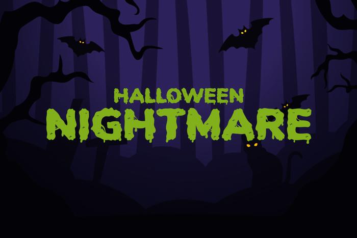 Halloween Nightmare Font poster