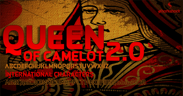 Queen of Camelot 2.0 Font poster