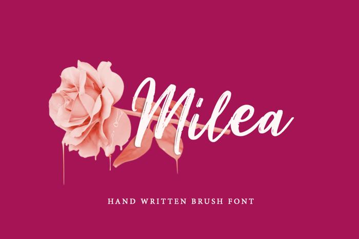 Milea Font poster