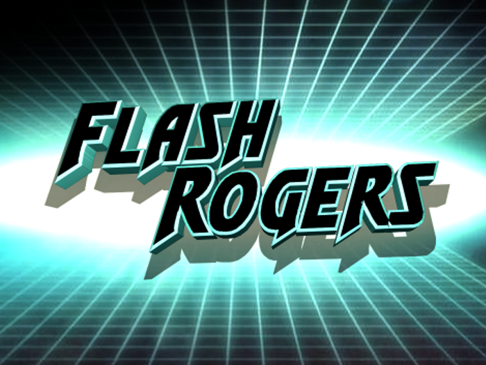 Flash Rogers Font poster