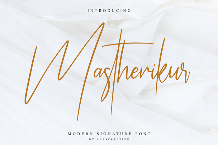 Mastherikur Font poster