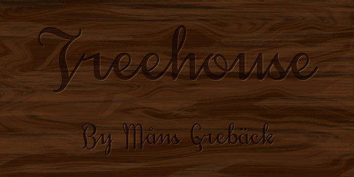 Treehouse DEMO Font poster