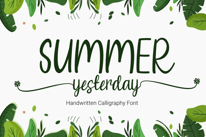 Summer Yesterday Font poster