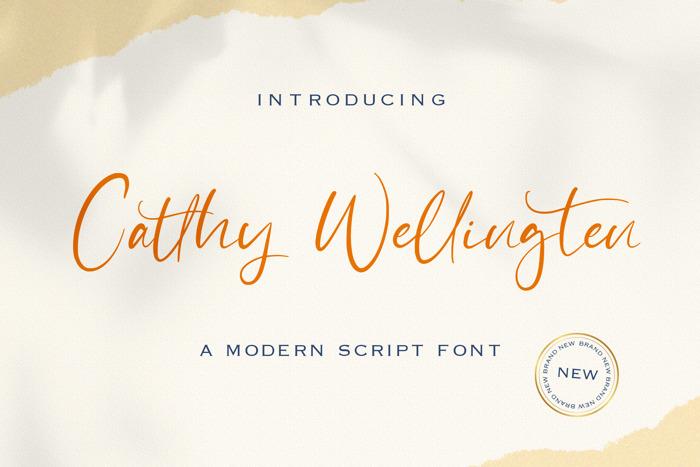 Catthy Wellingten Font poster
