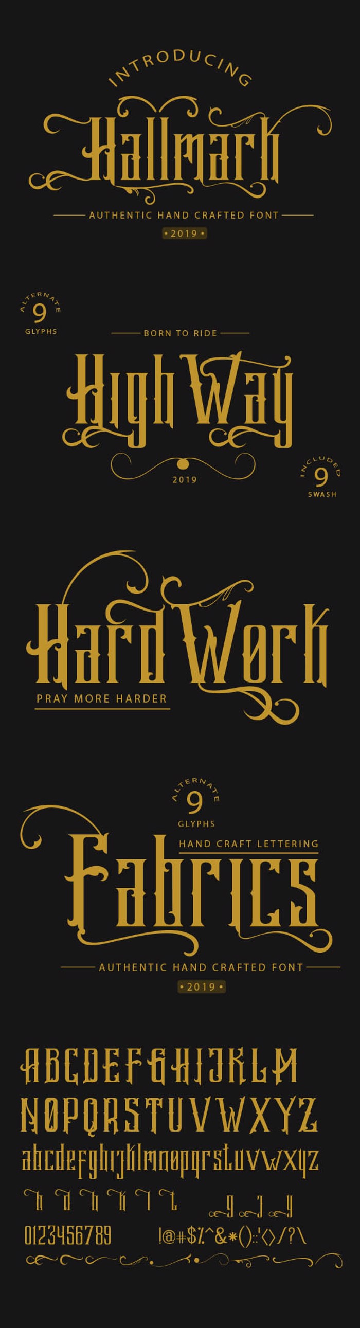 Hallmark demo Font poster