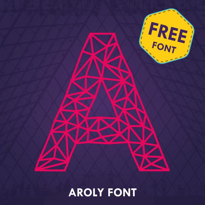 Aroly Font poster
