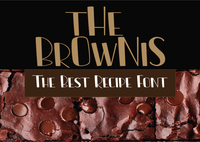 The Brownis Font poster